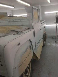land rover paint cornwall